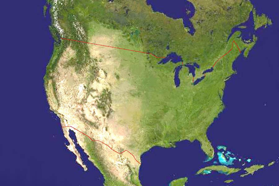 Географические Карты Сша