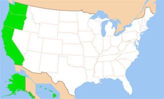 Горные штаты на западе сша